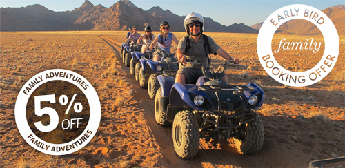 5% off & Early Bird Family Adventures combined booking offer