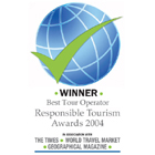 Exodus were voted joint (with Calabash Trust and Tours) overall winners in all categories in the Responsible Tourism Awards 2004.
