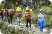 Guide and porters, Inca Trail