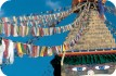 Bodnath Stup and prayer flags, Kathmandu