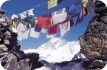 Everest and prayer flags