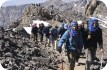 Clients approaching Toubkal summit