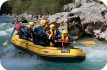 Rafting down the Soca River