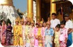 Children in traditional dress at Shwedagon Pagoda, Rangoon