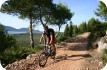 Biking along a trail in sardinia