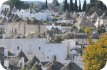 View of Alberobello\'s trulli houses
