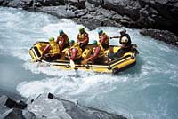 Rafting the Rangitata River in South Island