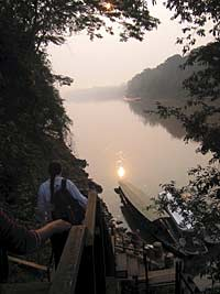 Early morning excursion from our lodge in the Tambopata Reserve.