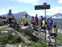 Exodus group after climbing the Col de Peyresourde - Tour de France