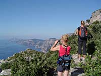 Walkers photographing Walk of the Gods, Amalfi Coast