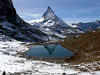 The Matterhorn and lake reflection