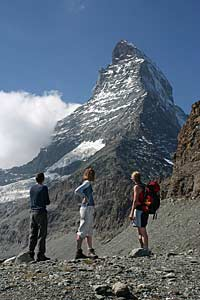 Enjoying the stunning views of the Matterhorn