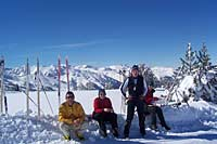 Lunch stop during cross-country skiing, Pyrenees
