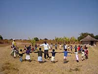 Village children playing