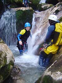 Kids canyoning in Picos de Europa