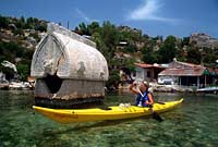 Rock tombs at Kekova, Turkey