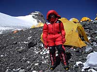 Valerie Parkinson on Everest