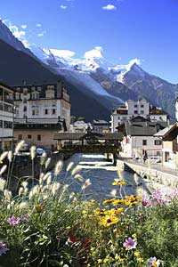 View from Chamonix centre