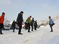 Warming up for Cross-country Skiing