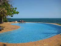 Pool and coast, Fumba Hotel, Zanzibar