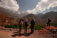 Walking through Berber villages in Toubkal National Park
