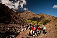 Group in Toubkal National Park