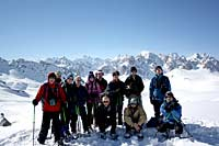 Group shot at the top of the Col des Muandes