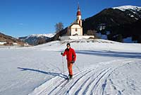 Cross-country skiing at Trins, Austria