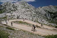Switchback descent from Mali Halan, Croatia