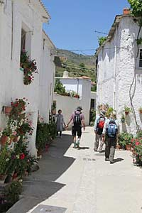 Walking in a white village