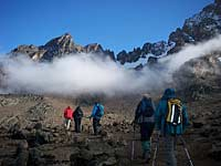 Into the cloud on Mount Kilimanjaro, Tanzania