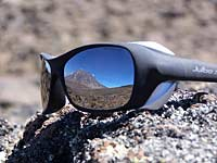 Mount Kilimanjaro reflected in sunglasses