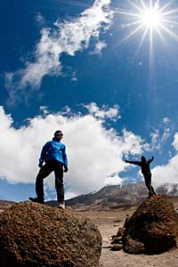 Excitment on Mount Kilimanjaro, Tanzania