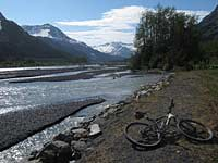 Cycling through Alaskan Wilderness