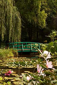 Monet's Garden, the famous bridge and lily pond, Giverny, France