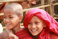 Friendly kids in Burma