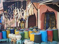 Shops of Marrakech, Morocco