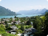 Small village at Mondsee Lake, Austria