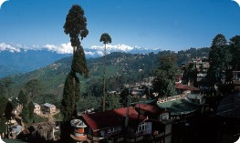 View of Darjeeling, Kanchenjunga behind