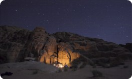 Camping under the stars in Wadi Rum