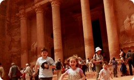 Children sightseeing, Petra
