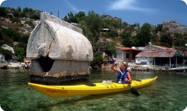 Rock tombs at Kekova