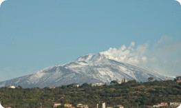 Etna with snow