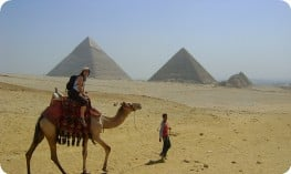 camel ride at the pyramids.
