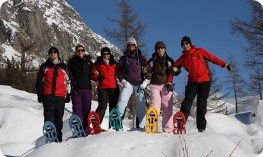 Snowshoeing in Val Ferret
