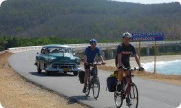 Cycling along the coast to Trinidad