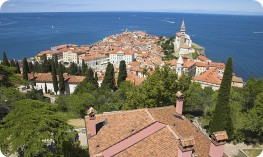 The Slovenian coastal town of Piran.
