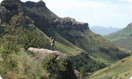 Dramatic scenery amidst the Drakensberg Mountains