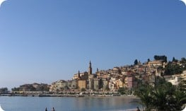Coastal town of Menton on the French Riviera