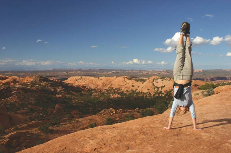 Handstand in Canyonlands National Park